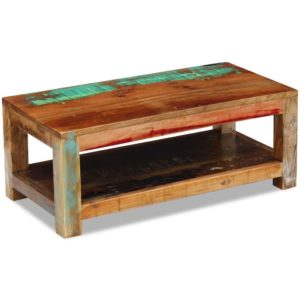 sahtlitega kohvilaud taastatud puidust 90 x 45 x 35 cm
