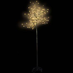 Õitsev LED puu kollase valgusega 210 cm