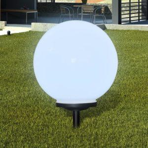 Õue aiapäikeselamp pallikujuga LED 40cm 1 tk koos vaiaga