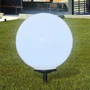 Õue aiapäikeselamp pallikujuga LED 50cm 1 tk koos vaiaga