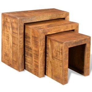 üksteise alla mahtuvate laudade komplekt