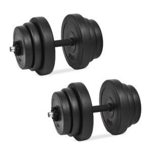 18-osaline hantlite komplekt 40 kg