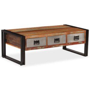 3 sahtliga kohvilaud taastatud puidust 100 x 50 x 35 cm