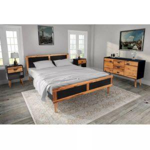 4-osaline magamistoa mööblikomplekt akaatsiapuit