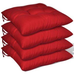 4 toolipatjade komplekt paks punane