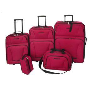 5-osaline reisikohvrite komplekt punane