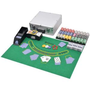 600 laseržetooniga komplekt pokker/blackjack alumiiniumkohvris