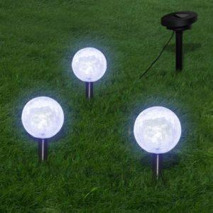 Aiatuled koos vaia ankrutega & päikesepaneeliga 3 LED