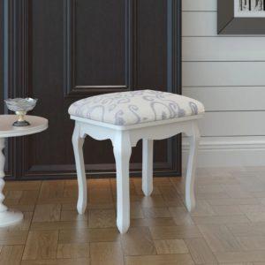 Antiikne polstriga tool valge