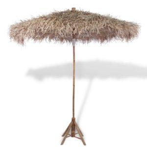 Bambusest päikesevari 270 cm banaanilehtedest katusega