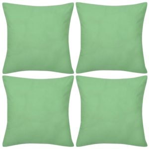 Diivanipadja katted 4 tk 40 x 40 cm roheline