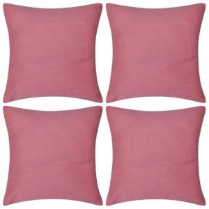 Diivanipadjakatted 4 tk 40 x 40 cm roosa