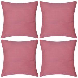 Diivanipadjakatted 4 tk 80 x 80 cm roosa