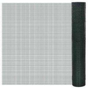 Galvaniseeritud traatvõrk 1 m x 25 m PVC kattega 12 x 12 cm