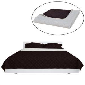 Kahepoolne tepitud voodikate beež/pruun 230 x 260 cm