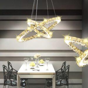 Kahest rõngast koosnev riputatav LED-lamp 23