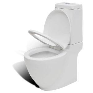 Kandilise paagiga keraamiline WC pott valge
