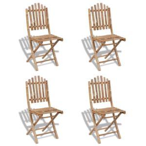 Kokkupandavad bambusest toolid 4 tk