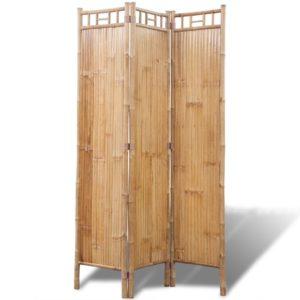 Kolme paneeliga bambusest vahesein