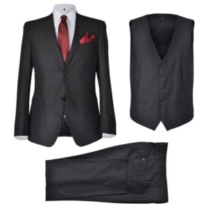 Kolmeosaline ülikond nr 46 must