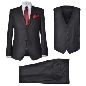 Kolmeosaline ülikond nr 48 must
