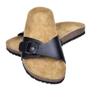 Korktallaga sandaalid 1 rihmaga unisex suurus 37 must