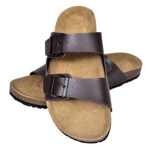 Korktallaga sandaalid 2 rihmaga unisex suurus 41 pruun