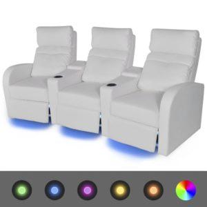 LED-tuledega diivan 3 istekohaga kunstnahast