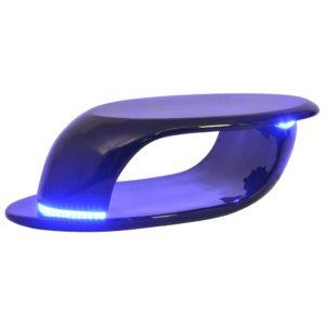 LED-tuledega kõrgläikega klaaskiust kohvilaud