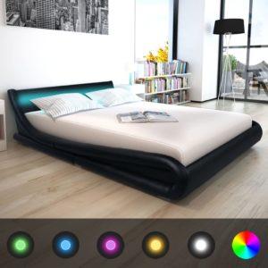LED-tuledega voodi Memory Foam madratsiga