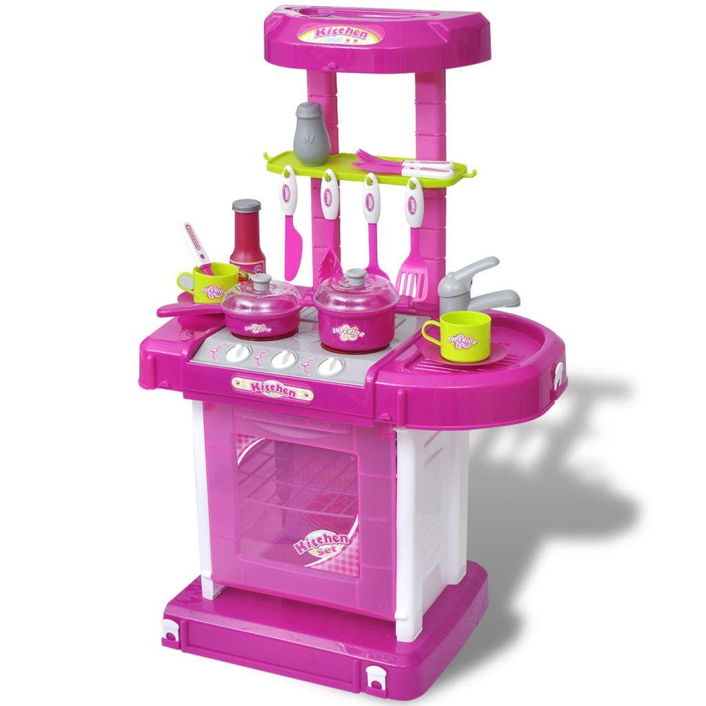 61ecfda370d Laste mänguköök tule- ja heliefektidega, roosa - JUNIIK.EE