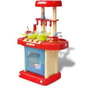 Laste mänguköök tule- ja heliefektidega