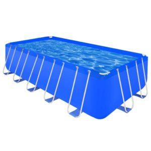 Maapealne bassein terasraamiga ristkülikukujuline 540 x 270 x 122 cm
