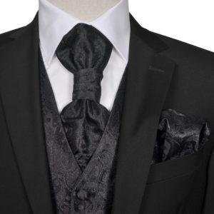 Meeste mustriline vesti komplekt suurus 48 must