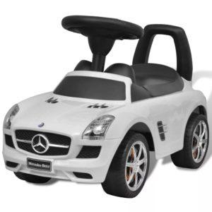 Mercedes Benz lükatav laste mänguauto valge