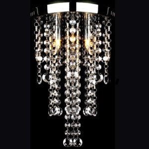 Metallist laelamp/ lühter kristallidega