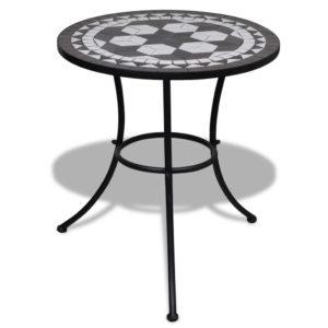 Mosaiikplaadiga laud 60 cm must/valge