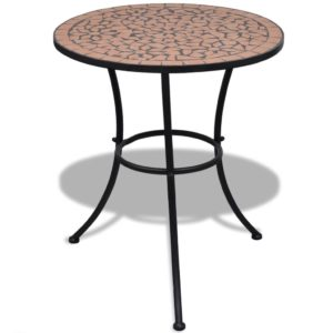 Mosaiikplaadiga laud 60 cm terrakota