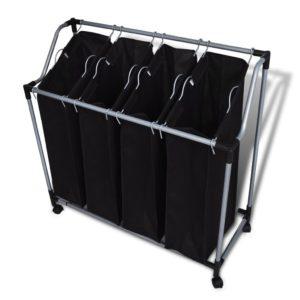Musta pesu sorteerija 4 kotiga