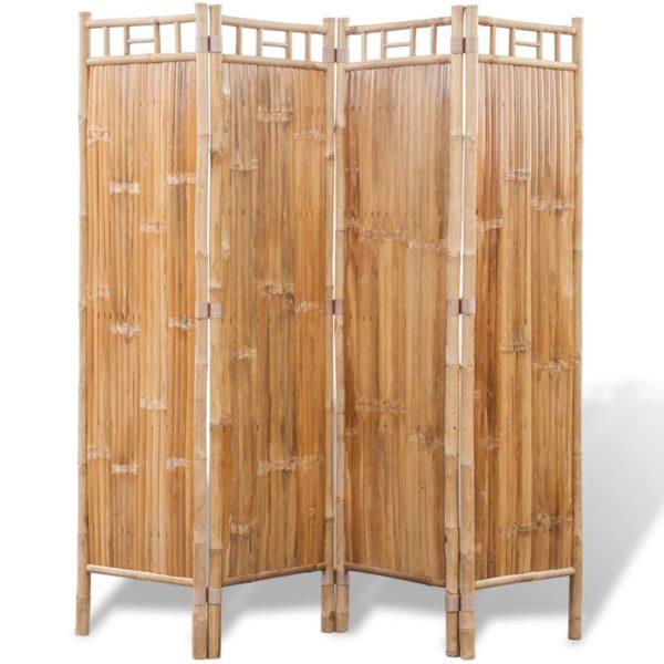 Nelja paneeliga bambusest vahesein