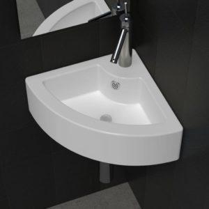 Nurka paigutatav keraamiline kraanikauss kraani ja ülejooksuauguga