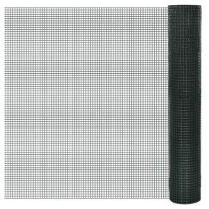 PVC-ga kaetud ja tsingitud võrkaed 1 m x 10 m võrgusilma suurus 12 x 12 mm