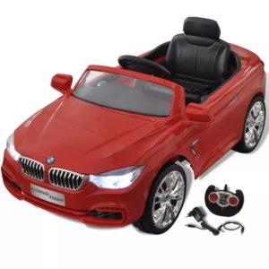 Patareil töötav mänguauto puldiga BMW punane