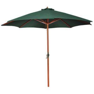 Puidust jalaga päikesevari 258 cm roheline