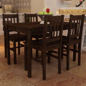 Puidust söögilaud 4 tooliga
