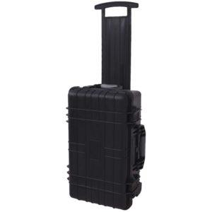 Ratastega tööriistakast/ elektroonika kohver vahtkummiga vooderdatud
