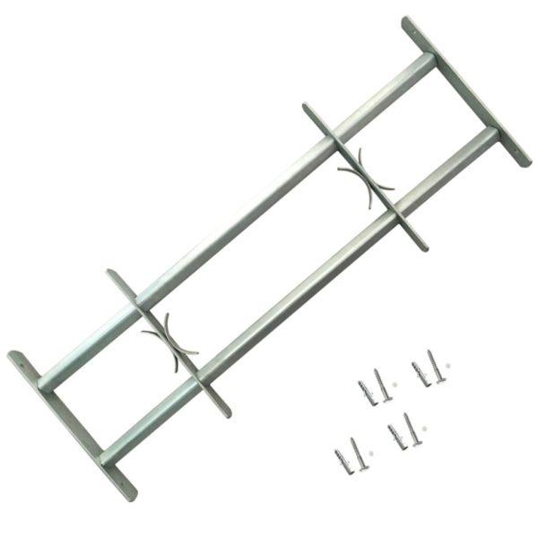 Reguleeritavad akende turvatrellid kahe põiki trelliga 500-650 mm