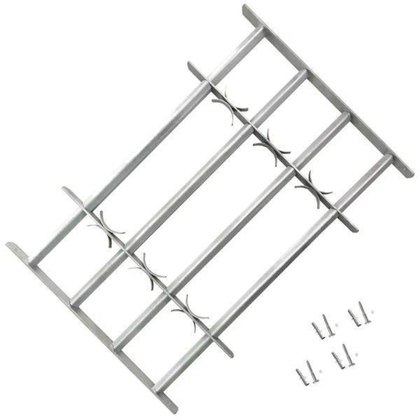 Reguleeritavad akende turvatrellid nelja põiki trelliga 500-650 mm