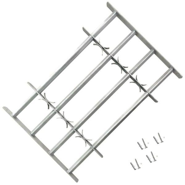 Reguleeritavad turvatrellid akendele nelja trelliga 1000-1500 mm