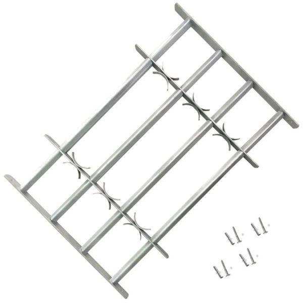 Reguleeritavad turvatrellid akendele nelja trelliga 700-1050 mm